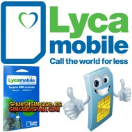 LYCAMOBILE SPANIEN PREPAID SPANISH SIM CARD EU ROAMING 1 GB INTERNET 100 MINUTEN