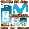 Movistar Tarifa 6 Spanish prepaid SIM card