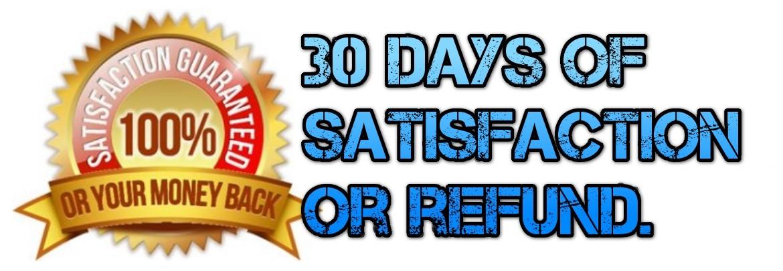 Wir garantieren die Zufriedenheit Ihrer Bestellung oder erstatten.