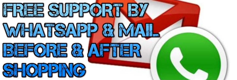 Soporte gratuito por WhatsApp y correo electrónico en español e inglés